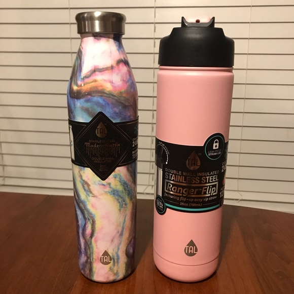 Tal Bottle Dining 2 Tal Water Bottles Pink And Marble Poshmark Tal ranger pro water bottle, stainless steel, vacuum insulated, double walled, hot and cold, 40 ounce (pacific teal) 4.8 out of 5 stars 48. 2 tal water bottles pink and marble